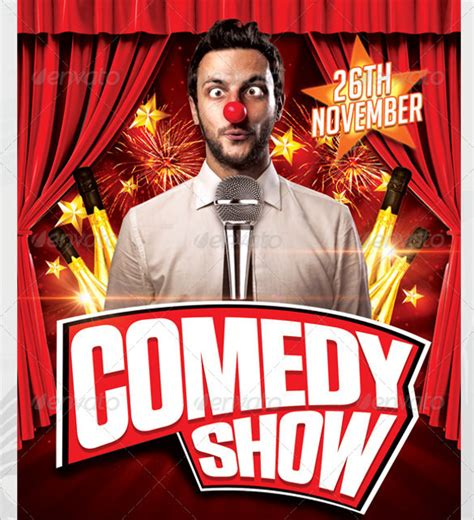 show templates comedy show flyer template 10 in vector eps psd