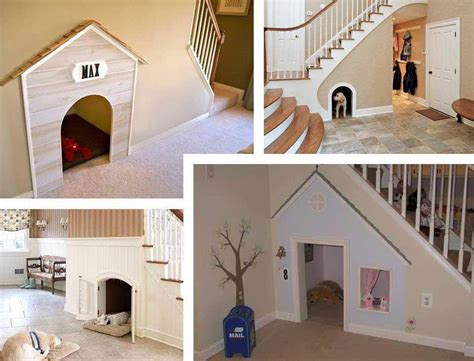 built in dog house you can build your own dog house under the stairs of your home