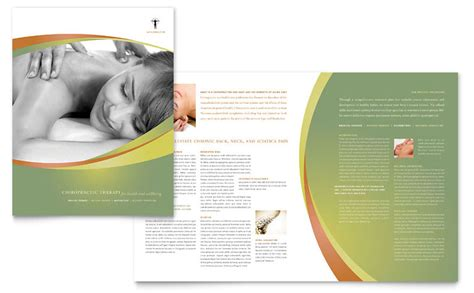 massage chiropractic brochure template word publisher