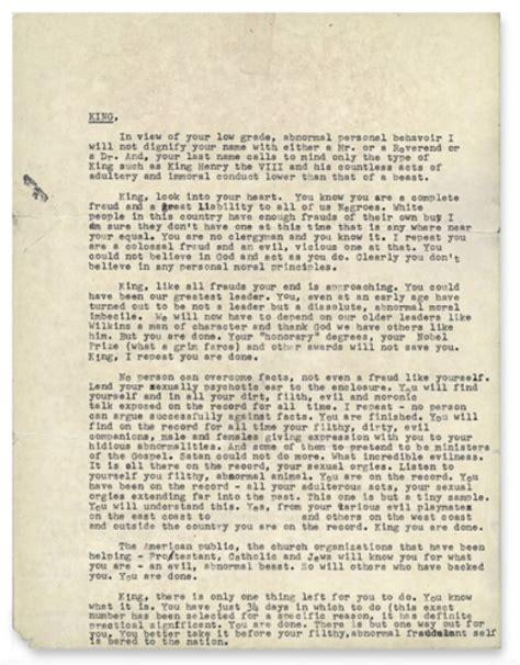 Lettre De Recommandation Signification Lettre Du Fbi 224 Martin Luther King 171 Je Te Le R 233 P 232 Te Tu Es Une 233 Norme Arnaque Et Un D 233 Mon