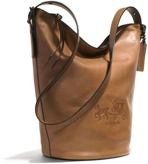 Coach Bleeker Leather Large Duffle by Coach Bleecker Logo Duffle Bag In Leather In Brown