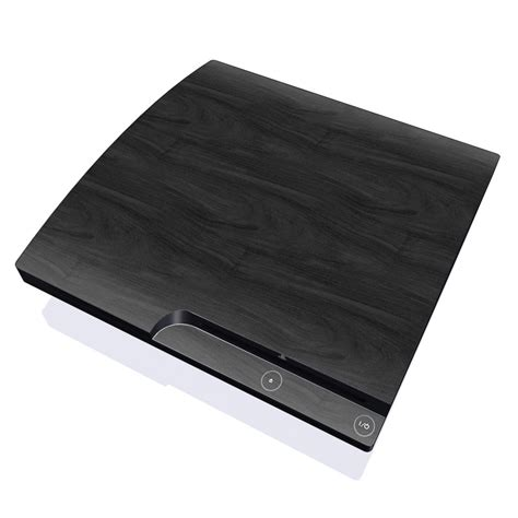 Playstation 3 Slim Black black woodgrain playstation 3 slim skin istyles