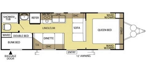 salem rv floor plans 2010 forest river salem cruise lite 26bh comparison