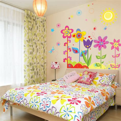 kid room wall decor flowers wall sticker for room home decor nursery wall decals removable diy