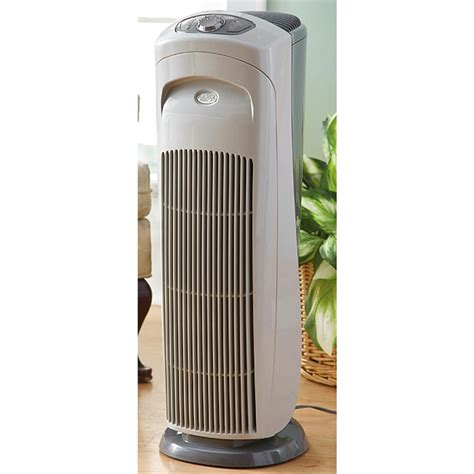 174 hepa tower air purifier 184354 healthy living at sportsman s guide