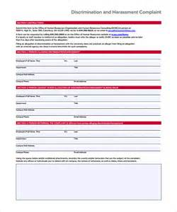 harassment and bullying policy template sle harassment complaint form workplace harassment