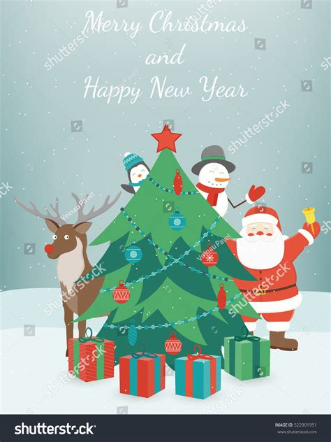 new year wishes vector greeting new year card merry stock vector