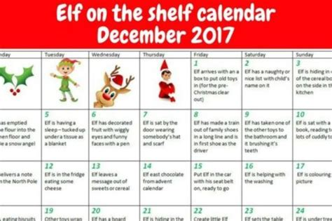 On The Shelf Copyright by On The Shelf Sheets For Parents To Make December Easier Turnto23 Bakersfield Ca