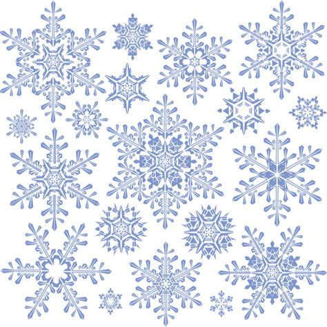 snowflake pattern images decorative snowflakes templates vector free vector