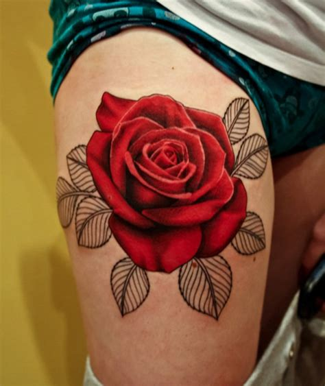 sexiest rose tattoos 50 thigh tattoos for amazing ideas
