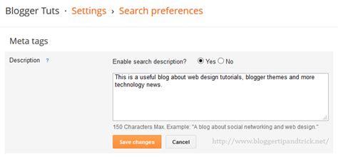 blogger description how to add meta description to each blogger post