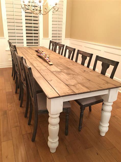 farmhouse dining table ideas diy farmhouse table my husband made my 10 foot 8 inch