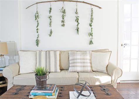 diy wall decor eucalyptus branch