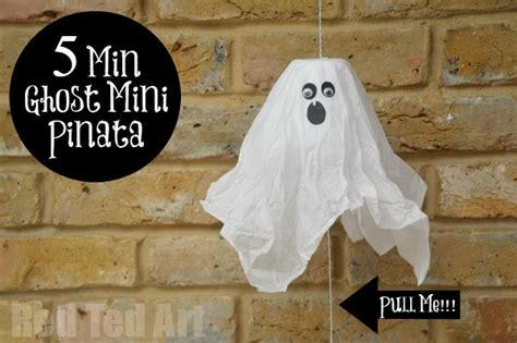 How To Make Paper Ghost For - mini ghost pinatas 5min paper cup craft for