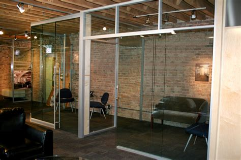 glass panel interior door showrooms sustainable demountable removable office walls