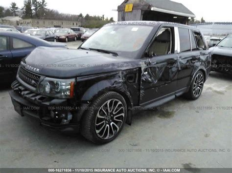 2011 land rover range rover sport supercharged salvage for