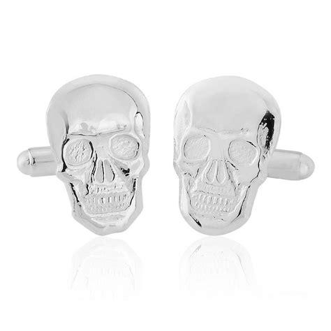 Cufflinks Cufflink Kancing Manset Silver Skull sterling silver skull cufflinks