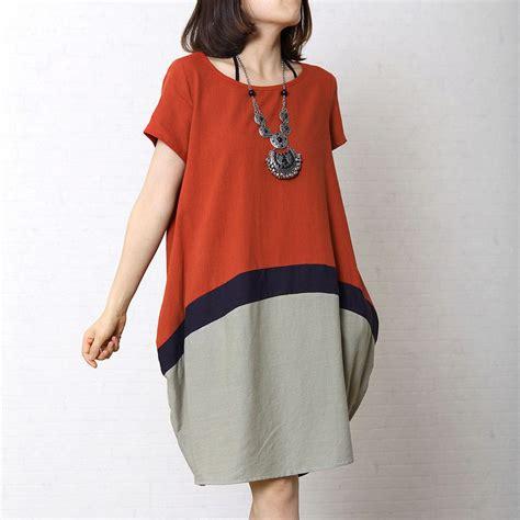 Dress Brukat Phing Phing sleeved cotton linen dress buykud 1 top