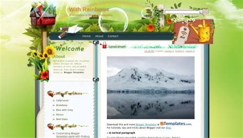 download qlikview themes templates with rainbows blogger template btemplates