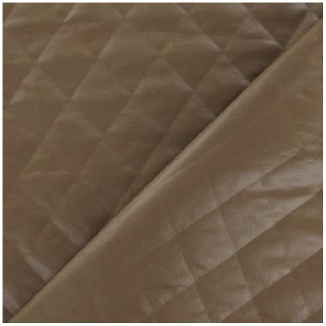 Quilted Polyester Fabric by Quilt Quilted Lining Fabric Camel X 10cm Ma