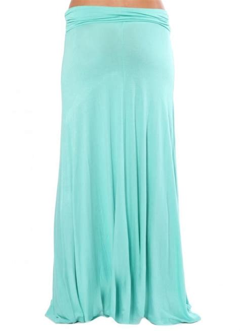 mint green jersey maxi skirt by norka ustrendy