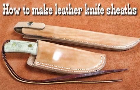 how to make a leather sheath for a knife leathercraft