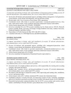 Physical Security Consultant Sle Resume by Kevin Tart Resume