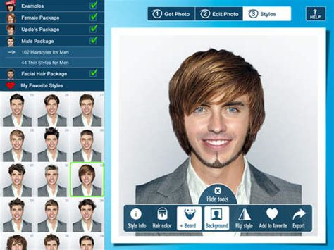 virtual hairstyles for men hairstyle pro for ipad try on virtual hairstyles for men
