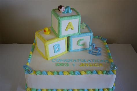 Baby Shower Cakes With Blocks by Baby Block Cake Cakecentral