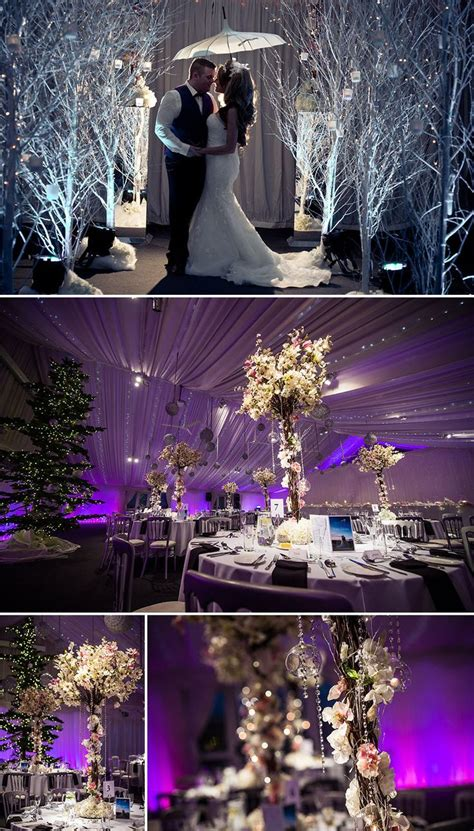 gorgeous winter wedding ideas purple wedding