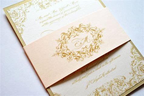 New Blush Pastel Dor invitation d or d or invitations de mariage blush fard