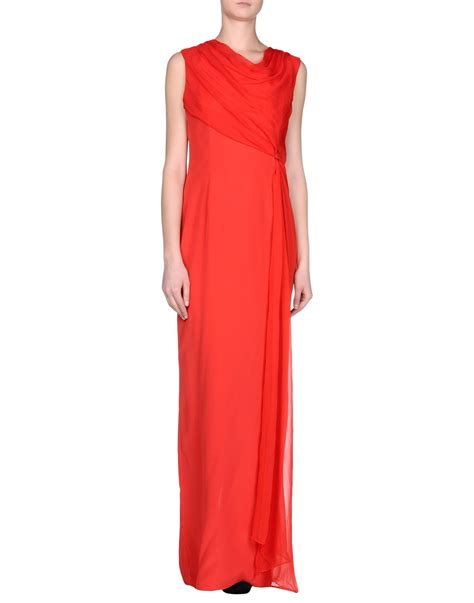 vera wang dresses cocktail dresses maxi dresses vera wang long dress in red lyst