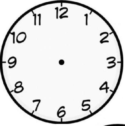 printable analogue clock template activity 5 time time time first grade math work stations