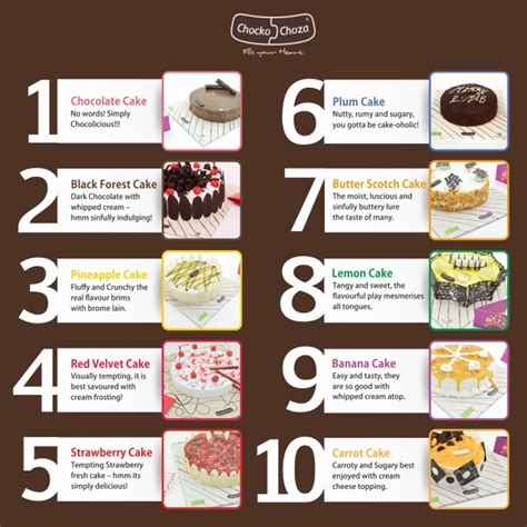 chocko choza top 10 best cake flavours in the world