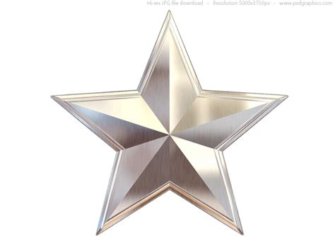 Gold, silver and bronze metal stars   PSDGraphics