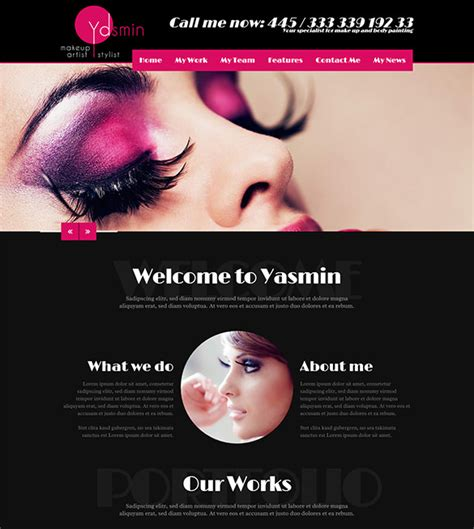 15 Make Up Artists Wordpress Themes Templates Free Premium Templates Cosmetology Portfolio Template