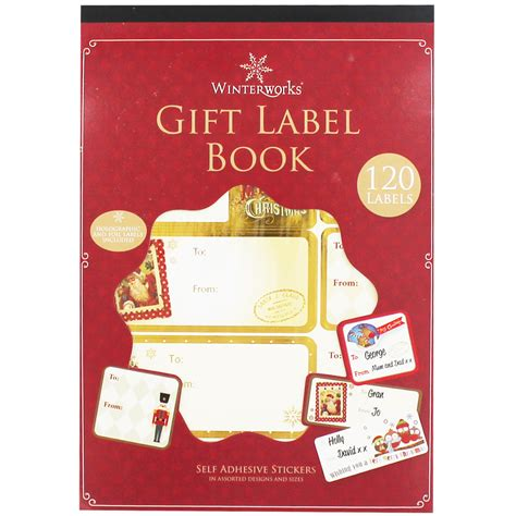 christmas gift label book christmas gift tags at the works