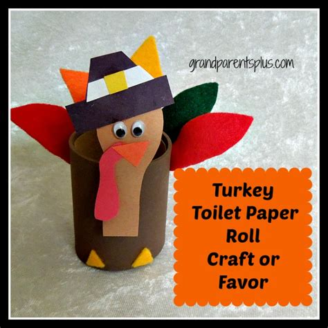 Paper Turkey Craft - turkey toilet paper roll craft or favor grandparentsplus