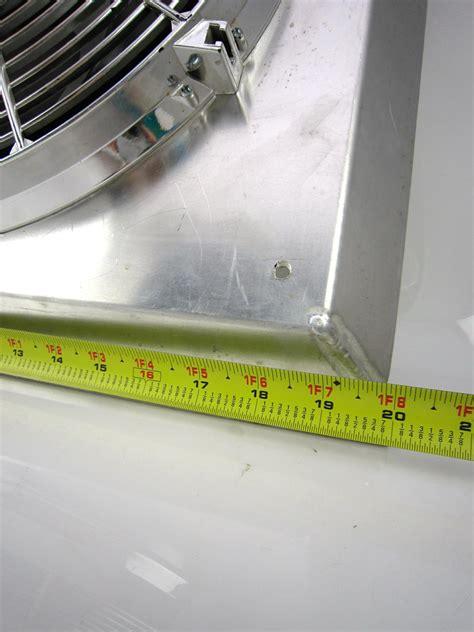 aluminum fan shroud fabrication chrome electric radiator fan w fabricated aluminum