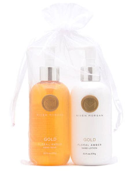 niven lotion niven gold floral lotion and soap set