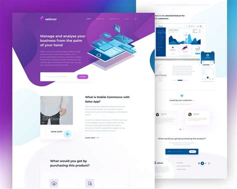 Sales App Landing Page Template Psd Download Download Psd Mobile App Landing Page Template
