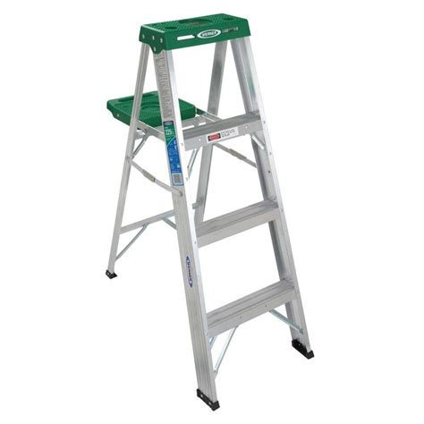Ladders At Home Depot by Werner 4 Ft Aluminum Step Ladder With 225 Lb Load