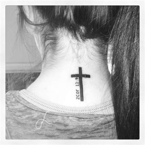cross tattoo good or bad 2 corinthians 12 9 cross tattoo on back of neck i want so