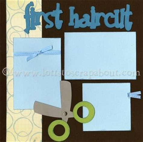 scrapbook layout for first haircut 17 best images about first haircut scrapbook ideas on