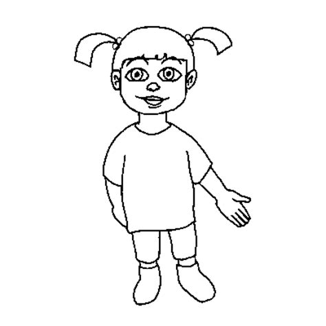 boo monsters inc coloring page