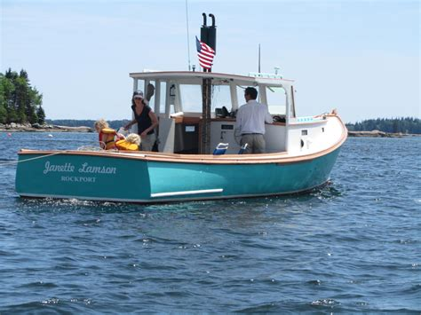maine boats autoliterate beals island lobsterboat
