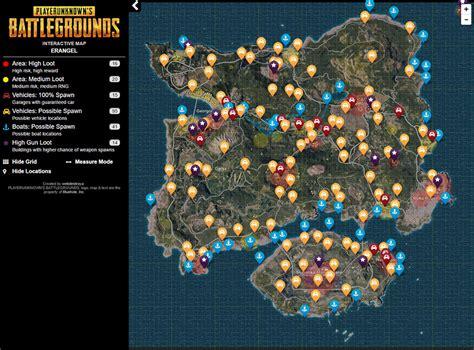 pubg vehicle spawns pubg 武器ルート 車のインタラクティブマップ その2 gamegeek