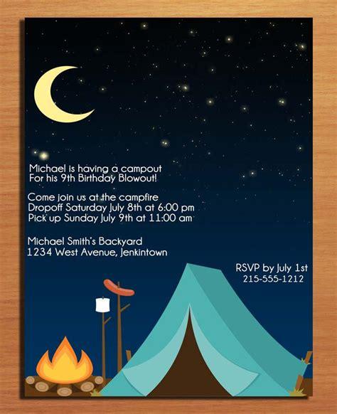 camp out invitations printable free 40th birthday ideas free birthday invitation templates