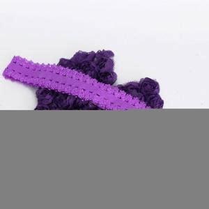 Flower Ribbon Headband Intl lilac purple baby flower headband newborn flower
