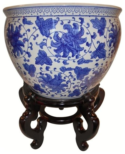 shop houzz oriental furnishings blue  white porcelain
